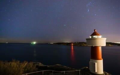 Stjerner over Odderøya fyr