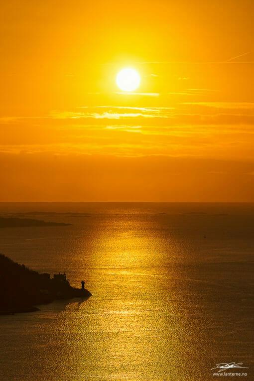 odderøya kristiansand solnedgang bilde